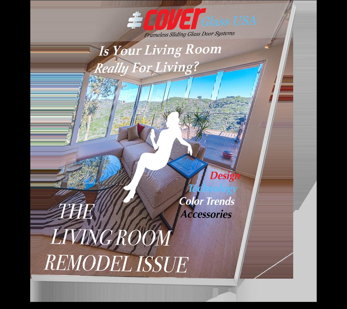 Living Room Remodel | Cover Glass USA Frameless Sliding Glass Doors
