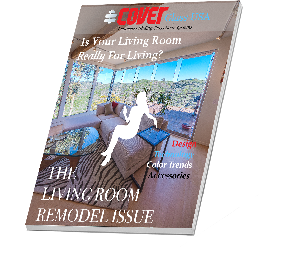 Living Room Remodel | Cover Glass USA Frameless Sliding Glass Doors